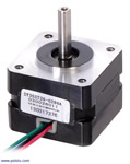 Stepper Motor: Bipolar, 200 Steps/Rev, 35×26mm, 7.4V, 0.28 A/Phase Pololu 1207
